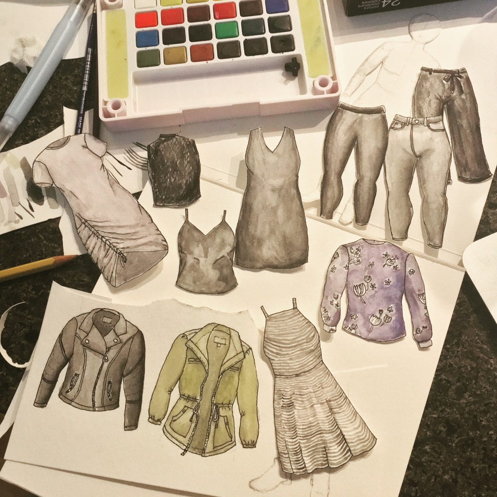 DIY paper doll style cutouts