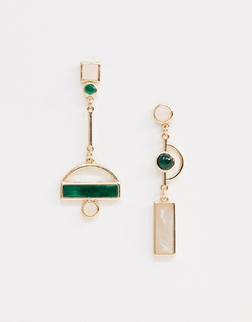 ASOS asymmetric earrings