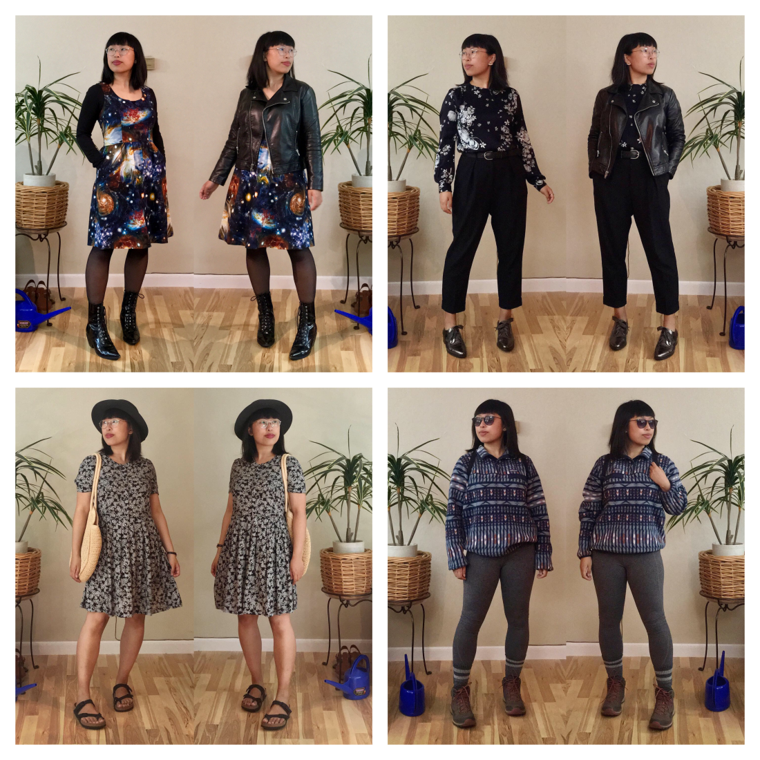 2019-06 prints outfits collage
