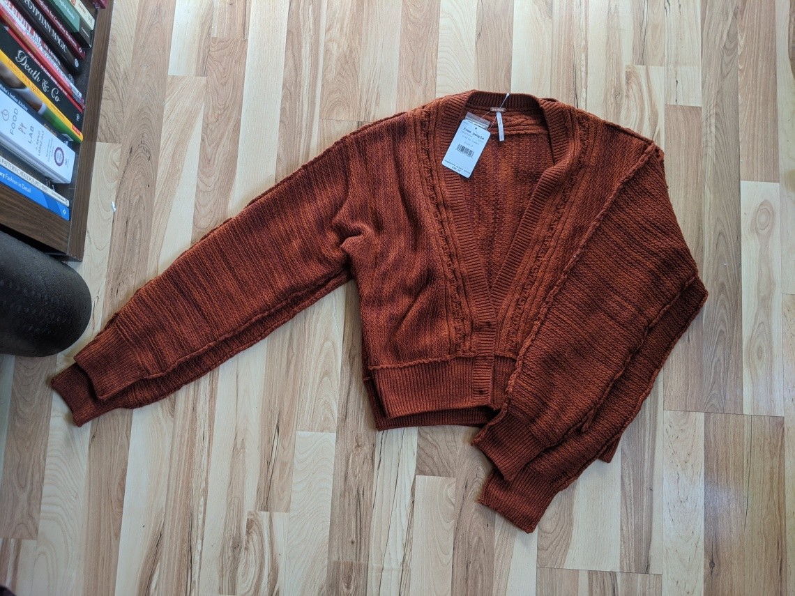 free people moonriver cardigan small and medium