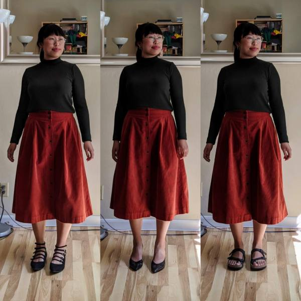 midi skirts black shoes and sandals