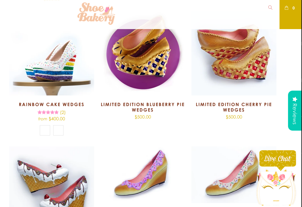 shoe bakery screenshot