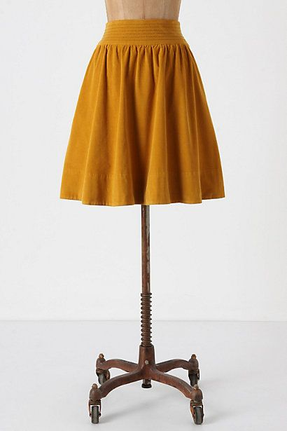 edme and esyllte field skirt mustard
